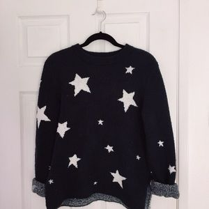 H&M soft navy star cashmere sweater
